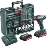 Metabo BS18 Mobile Workshop 18V Boor-schroefmachine 2 Accu's 2.0Ah en Lader + vele toebehoren - 602207880