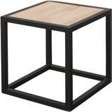Spinder Design bijzettafel Diva 40 cm staal/hout zwart/blank