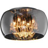 Trio plafondlamp Vapore 40 cm staal/glas 3 kg zwart