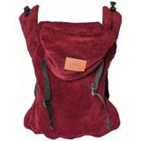 ByKay draagzak Click Carrier Classic Ribbed Velvet Red