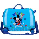 Jim Jam Bags concepts Mickey Mouse ride-on koffer 34 liter blauw