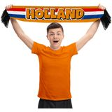 sjaal Holland 120 cm polyester oranje
