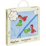 Playshoes badset in cadeauverpakking dino's 2 delig blauw