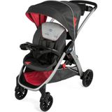 Chicco buggy Strollin' 2 polyester/aluminium zwart/rood