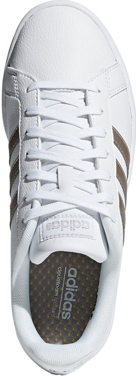 adidas Grand Court sneakers dames wit/zilver