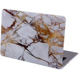 White Marble Clip On Hard Case Cover Laptop Hoes MacBook Air 13.3 model A1466 A1369