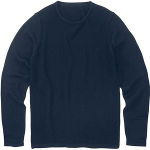 heren sweater donkerblauw HEMA