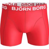 Björn Borg Heren Boxers Rood Microvezel Long Solid 6-Pack