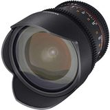 SAMYANG 10 mm T3.1 VDSLR ED AS NCS CS II lens voor aansluiting Canon, Micro Four Thirds, zwart, Micro-Four-Thirds