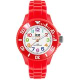Ice-Watch - ICE mini Red - Boy's (Unisex) polsband met siliconen band - 000787 (extra klein)