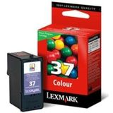 Lexmark Cartridge nr. 37 - Print cartridge - 1 x kleur (cyaan, magenta, geel) - 150 paginas - blister - LRP