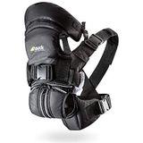 Hauck 4 Way Carrier Ergonomische babydrager 4-in-1 incl. hoofd- en neksteun, hoog draagcomfort, vier draagmogelijkheden vanaf de geboorte tot 12 kg, zwart