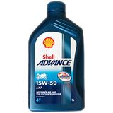Shell 1504001 motorolie Advance 4T AX7 15W-50, 1 L