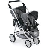 Bayer Chic 2000 689-76 Twin Poppenwagen, Jeans Grey