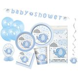 Unique Party 63790 - Blauwe olifant Baby Shower Supplies Kit voor 8