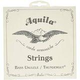 Aquila 68U Bass Ukulele Snaren Thundergut, GDAE, Tuning Stabiliteit [Set van 4] Wit