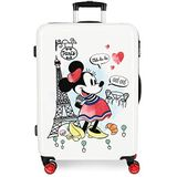 Koffer met harde schaal 68 cm Minnie Around the World Paris rood