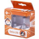 GE General Electric PX26d Halogeen Extra Life 2-delige set 58520DPU PX26d in de GE box