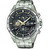 Casio Edifice Heren Massieve Roestvrijstalen Behuizing en Roestvrijstalen Armband Horlogebandje Brit, Zilver/Goud/Zwart, EFR-556D-1AVUEF