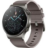 Huawei Watch Gt 2 Pro Classic Smartwatch (35 Mm Amoled-Display, SpI2-Monitoring, Hartslagmeting, Muziek Afspelen & Bluetooth Telefonie, 5ATM, GPS), 12.1 x 12.1 x 9.2 cm, Nebula Grijs, 55025792