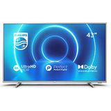 Philips 43PUS7555/12 TV 108 cm (43 inch) LED TV (4K UHD, P5 Perfect Picture Engine, Dolby Vision, Dolby Atmos, HDR 10+, Saphi Smart TV, HDMI, USB) middenzilver [modeljaar 2020]