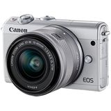 Canon EOS M100 Systeemcamera, incl. EF-M (15-45 mm + 55-200 mm) IS STM, wit
