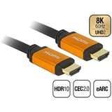Delock Hoogwaardige 8K HDMI-kabel @60Hz 48 Gbps, 2,00 m lengte, Ultra HD2, 4K @120Hz, eARC, UHDTV, HDR 10+, variabele Refresh Rate VRR, Dolby Vision, voor Xbox, PS4, Blu Ray Player, 85729