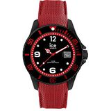 Ice-Watch - Ice Steel Black Red - Men's Wristwatch with silicon Strap - 015782 (Large)
