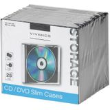 Vivanco CD/DVD Slim Case 25er Pack zwart