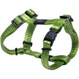 Reflecterende verstelbare H harness voor kleine dogs; matching collar en leash available, Utility, Small, groen