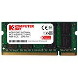 Komputerbay SODIMM geheugenmodule (4 GB, 200 pin, 800 MHz; PC2 6400 / PC2 6300, DDR2, CL 6)