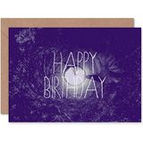 Wee Blue Coo CARD GREETING HAPPY BIRTHDAY LITTLE PLANET SPOOKY