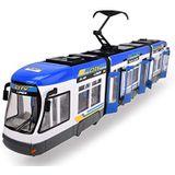 Dickie Toys 203749017 City Liner, Tram, 2 verschillende uitvoeringen, rood of blauw, willekeurige keuze, 46 cm, meerkleurig