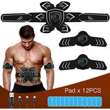 FYLINA Unisex's EMS Abdominal Abs Trainer Muscle Toning Belts Thuis Fitness Apparaat, Zwart & Wit, Klein