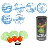 Speedminton Cross Speeder Speeder, set van 3 snelheden, badminton/crossminton, outdoorbal, incl. windring