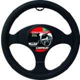 Carpoint 2510047 Steering Wheel Cover Leer Zwart