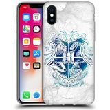 Officiële Harry Potter Zweinstein Aguamenti Dood Hallows IX Soft Gel Case Compatibel voor Apple iPhone X/iPhone XS