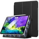 "MoKo Magnetic Smart Folio Case Fit iPad Pro 11 2nd Gen 2020 & 2018 [Support Apple Pencil 2 Charging] Slim Lightweight Shell Stand Cover, Auto Wake/Sleep Fit iPad Pro 11"" 2020 & 2018, Black"