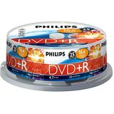 Philips DVD+R Blanco (4,7 GB data/120 minuten video, 16x high-speed opname, 25 spindel)
