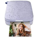 HP Sprocket Portable 2x3 inch Instant Photo Printer (Lilac) Print foto's op Zink Sticky-Backed vanaf uw iOS & Android-apparaat