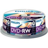 Philips DVD-RW onbewerkte (4,7 GB Data/120 minuten video, 1-4 x Speed opname 25er Spindel