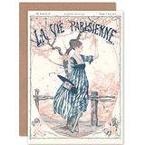 Artery8 La Vie Parisienne Peach Tree Flowers Magazine Cover Sealed Greeting Card Plus Envelope Blank inside