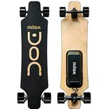 Nilox Unisex Youth Document-longboard Electric, zwart/goud, universeel