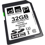 DSP Memory 32GB Ultra High Speed geheugenkaart voor Canon PowerShot SX730 digitale camera Z-4051557441583, zwart