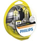 Philips 12342CVPYS2 autolamp ColorVision H4, geel, 2 stuks