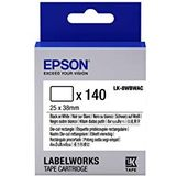 EPSON Ribbon LK-8WBWAC white/black 140 rechthoekige labels (25x38mm)