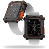 Urban Armor Gear Apple Watch hoes voor Apple Watch Series 5 (44mm) en Apple Watch Series 4 (44mm) (Rugged Case met Snap-on Design) - zwart/oranje