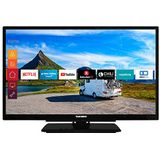 Telefunken Xf22G501V LED-Televisie, 22 inch, Full HD, Triple Tuner, Smart Tv, Prime Video, 12 V, Alexa, Zwart