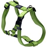 Rogz Utility Extra Large 1 reflecterende houtval verstelbare hond h-harness, Utility, X-Large, groen