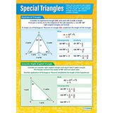 Speciale Driehoeken | Wiskunde grafieken | Gelamineerd Glans Papier van 594 mm x 850 mm (A1) | Math Charts for the Classroom | Education Posters by Daydream Education
